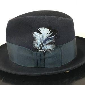 b441bafb0ec Dobbs Fifth Av NY 6 3 4 Admiralty Blue Fedora Hat